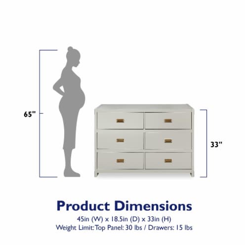 Baby Relax Miles 6-Drawer Dresser Perspective: left