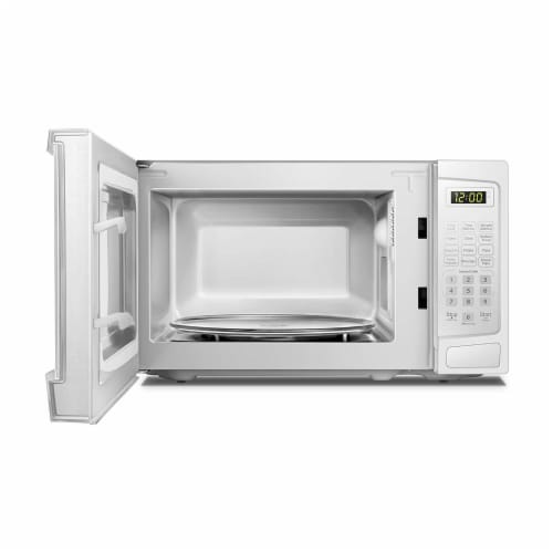 Danby 700W 0.7 Cubic Feet Convenient User-Friendly Countertop Microwave, White Perspective: left