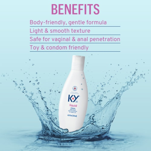 K-Y Smooth Liquid Classic Personal Lubricant Perspective: left