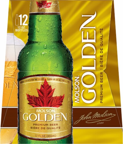 Molson Golden Beer Perspective: left