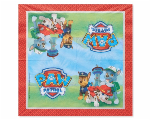 American Greetings Paw Patrol Paper Lunch Napkins Perspective: left