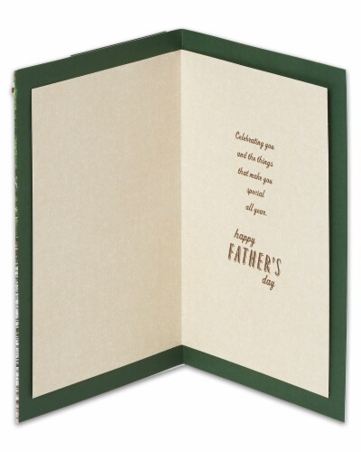 American Greetings Father's Day Card (Strength Kindness Wisdom) Perspective: left
