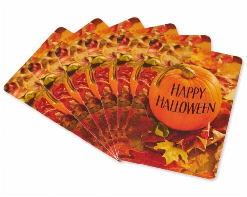 American Greetings Halloween Greeting Cards, 6-Count (Pumpkin) Perspective: left