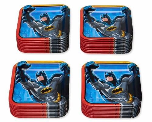 American Greetings Batman Disposable Paper Dessert Plates Perspective: left