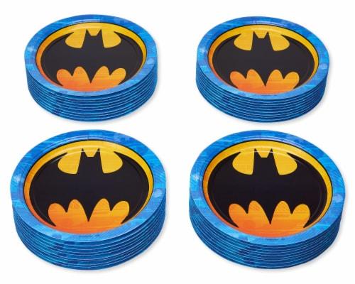 American Greetings Batman Disposable Paper Dinner Plates Perspective: left
