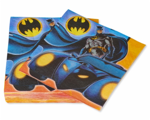 American Greetings Batman Paper Lunch Napkins Perspective: left