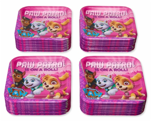 American Greetings Paw Patrol Disposable Paper Dinner Plates Perspective: left
