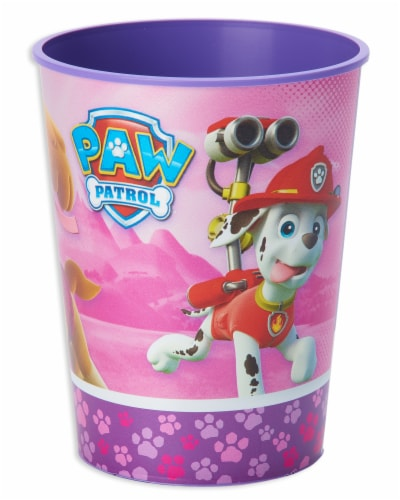 American Greetings Paw Patrol Pink Reusable Plastic Party Cups Perspective: left