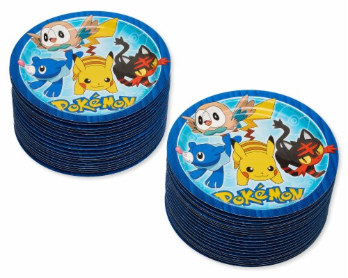 American Greetings Pokemon Disposable Paper Dinner Plates Perspective: left