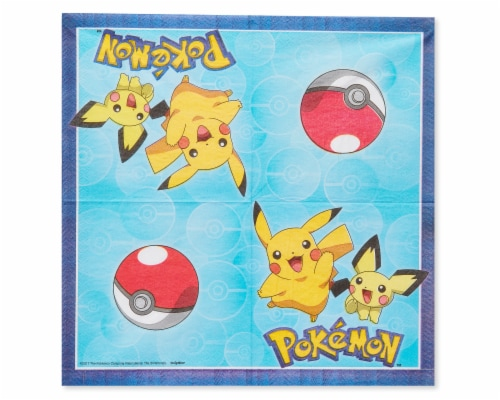 American Greetings Pokemon Disposable Paper Lunch Napkins Perspective: left