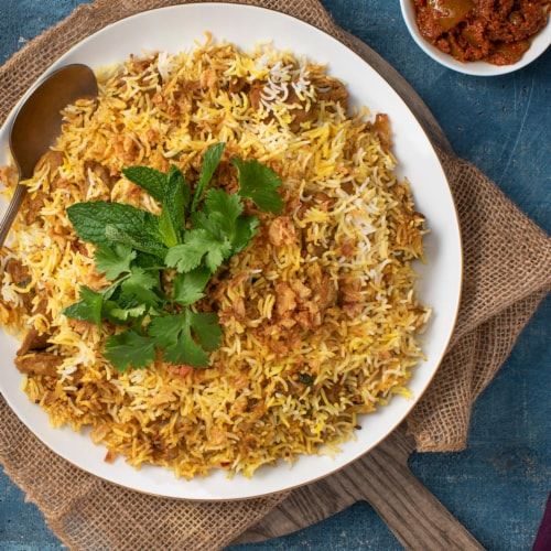 Patak's One Pot Birayani Mild Rice Kit Perspective: left