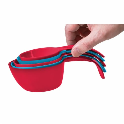 Starfrit 93115‐003‐0000 Snap Fit Measuring Cups Perspective: left
