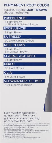 Clairol Permanent 6 Light Brown Root Touch-Up Perspective: left