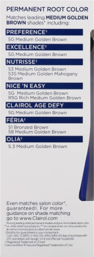 Clairol Permanent 5G Medium Golden Brown Root Touch-Up Perspective: left