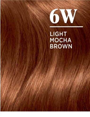 Clairol Natural Looking Nice'n Easy Permanent 6W Light Mocha Brown Color Perspective: left