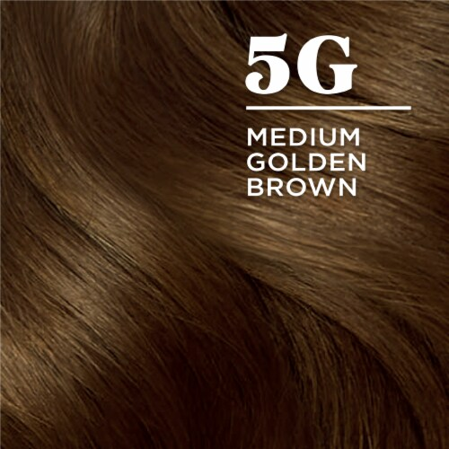 Clairol Natural Looking Nice'n Easy Permanent 5G Medium Golden Brown Color Perspective: left