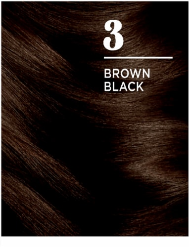 Clairol Natural Looking Nice'n Easy Permanent 3 Brown Black Color Perspective: left