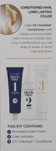 Clairol Nice'n Easy 9 Light Blonde Permanent Hair Color Perspective: left