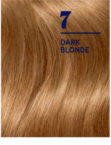 Clairol Nice'n Easy 7 Dark Blonde Hair Color Perspective: left