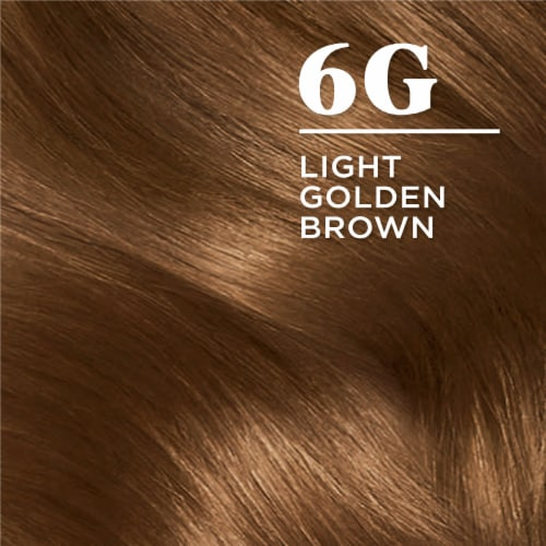 Clairol Natural Looking Nice'n Easy Permanent 6G Light Golden Brown Color Perspective: left