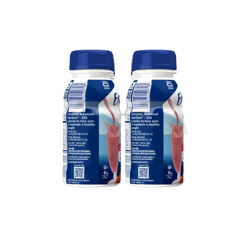 Ensure Plus Strawberry Ready-to-Drink Nutrition Shakes Perspective: left