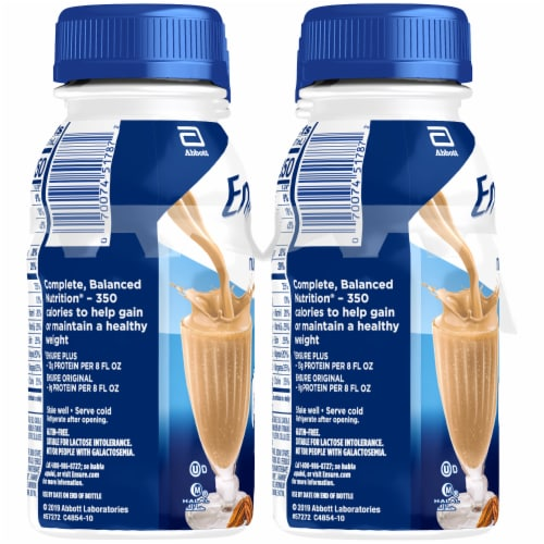 Ensure Plus Butter Pecan Ready-to-Drink Nutrition Shakes Perspective: left