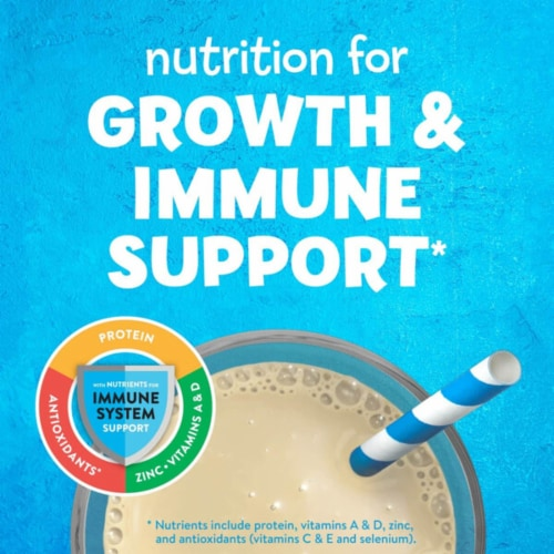 PediaSure Grow & Gain Vanilla Ready-to-Drink Kids' Nutritional Shakes Perspective: left