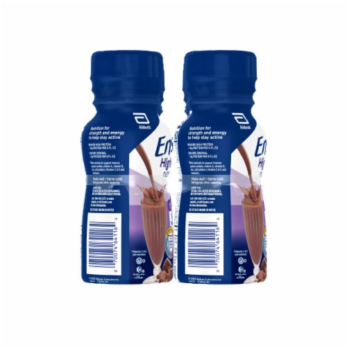 Ensure High Protein Milk Chocolate Ready-to-Drink Nutrition Shakes Perspective: left