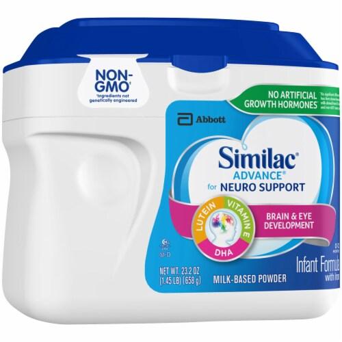 Similac Advance Infant Non-GMO Milk-Based Powder Formula with Iron Perspective: left