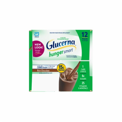 Glucerna Hunger Smart Rich Chocolate Nutritional Shakes Perspective: left