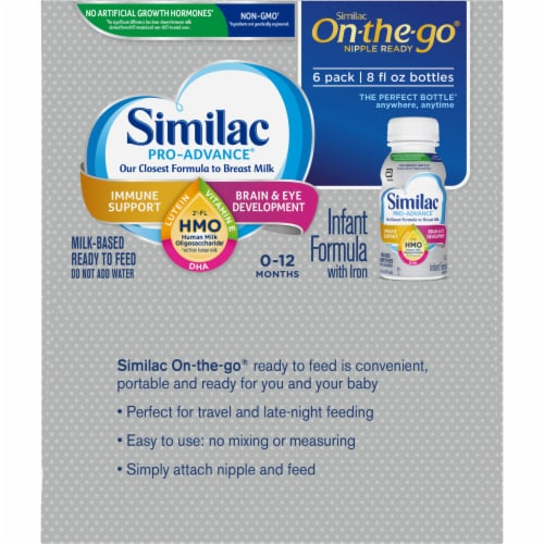 Similac Pro-Advance On-the-Go Ready to Feed Infant Formula Perspective: left