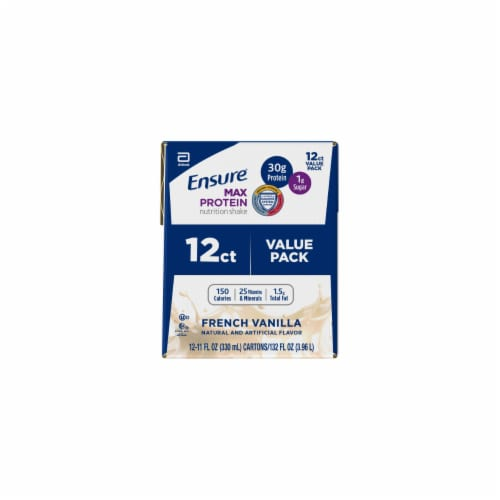 Ensure Max Vanilla Protein Shake Perspective: left