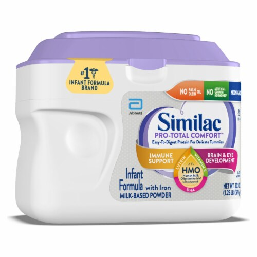 Similac Pro-Total Comfort Milk Based Powder Infant Formula with Iron Perspective: left