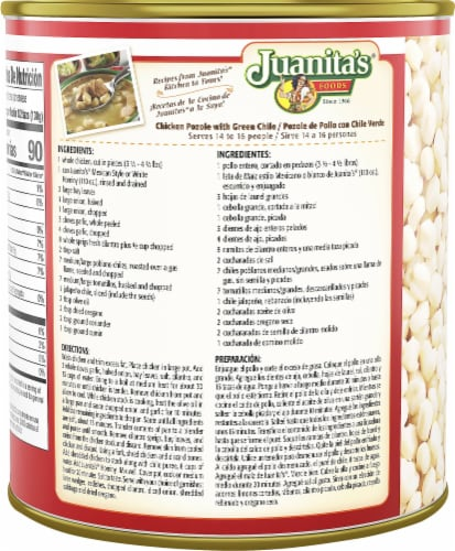 Juanita's Original Mexican Style Hominy Perspective: left