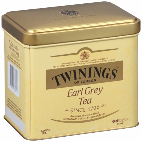 Twinings Of London Earl Grey Tea Loose Tea Tin Perspective: left