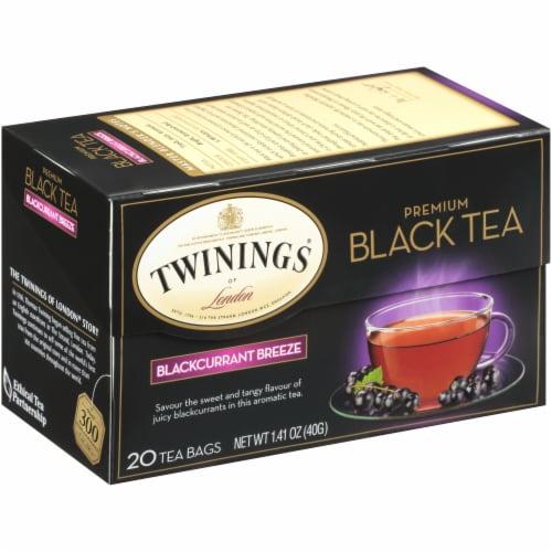Twinings Of London Blackcurrant Breeze Premium Black Tea Bags Perspective: left