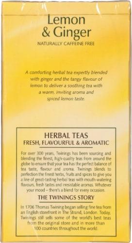 Twinings Of London Lemon & Ginger Herbal Tea Bags Perspective: left