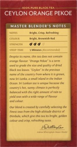 Twinings of London Ceylon Orange Pekoe Pure Black Tea Bags Perspective: left