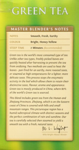 Twinings of London Green Tea Bags Perspective: left