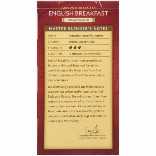 Twinings Of London Decaffeinated English Breakfast Black Tea Bags Perspective: left