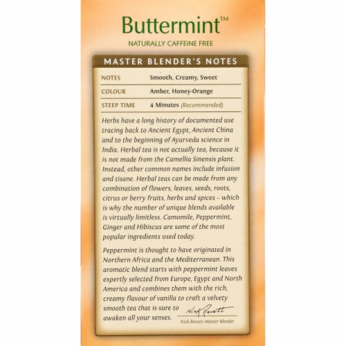 Twinings Of London Buttermint Herbal Tea Bags Perspective: left