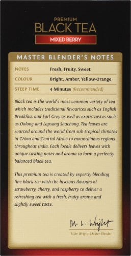 Twinings Of London Mixed Berry Premium Black Tea Bags Perspective: left