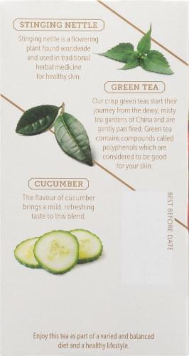 Twinings of London Glow Nettle Strawberry & Cucumber Green Tea Perspective: left