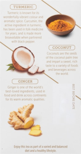 Twinings Of London Comfort Coconut & Ginger Herbal Tea Bags Perspective: left