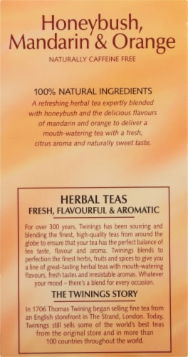 Twinings Honeybush Mandarin & Orange Herbal Tea Bags Perspective: left