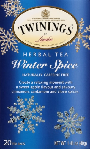 Twinings of London Winter Spice Caffeine Free Herbal Tea Bags 20 Count Perspective: left
