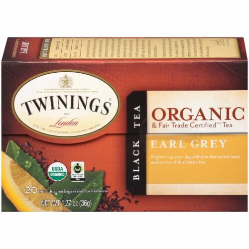 Twinings Of London Organic Earl Grey Black Tea Bags Perspective: left
