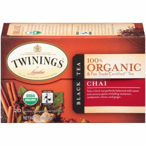 Twinings 100% Organic Chai Black Tea Perspective: left