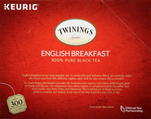 Twinings® of London English Breakfast Pure Black Tea K-Cup Pods Perspective: left