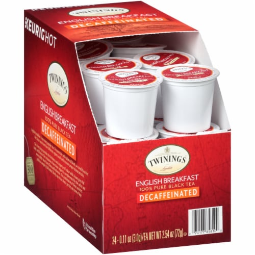 Twinings Decaffeinated English Breakfast Tea K-Cup Pods Perspective: left